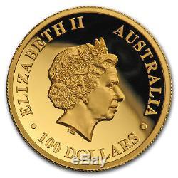 2018 Australia 1 oz Gold Kangaroo Proof (High Relief, Box & COA) SKU#170636