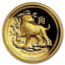 2018 Australia 1 oz Gold Lunar Dog Proof (HR, Box & COA) SKU#159526