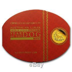 2018 Australia 1 oz Gold Lunar Dog Proof (withbox & COA) SKU#154350