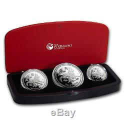 2018 Australia 3-Coin Silver Lunar Dog Proof Set