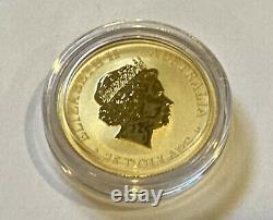 2018 Australian $25 Kangaroo 1/4 Oz Gold Coin. 9999
