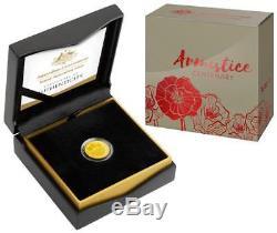2018 Australian Armistice Centenary 1/4oz Gold Proof Coin