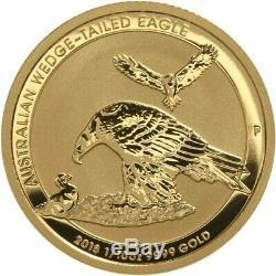 2018 Australian Wedge Tail Eagle 1/10 oz. 9999 Fine Gold Coin BU in a Capsule