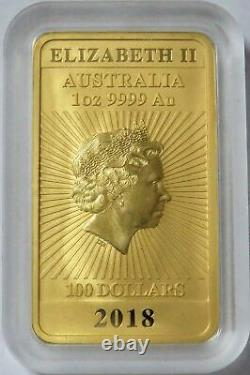 2018 GOLD AUSTRALIA $100 DRAGON 1oz. 9999 BAR