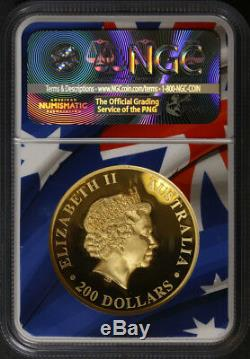 2018-P Australia $200 Gold Wedge-Tailed Eagle NGC PF70 UCAM High Relief Mercanti