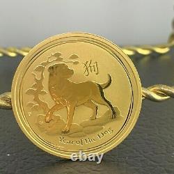 2018-P Australia Year of the Dog 1 oz Gold Lunar (Series 2) $100 Coin