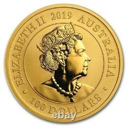 2019 $100 Australia 1 oz Gold Swan Perth Mint Gold Swan Series BU 5000 Worldwide