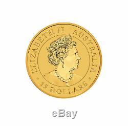 2019 $15 1/10oz Gold Australian Kangaroo. 9999 BU