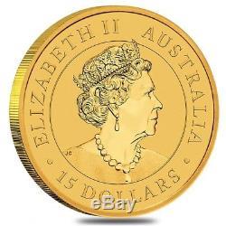 2019 1/10 oz Australian Gold Kangaroo Perth Mint Coin. 9999 Fine BU In Cap