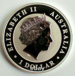 2019 1 Dollar Australian Kookaburra 1 oz. 9999 Gold Gilded Silver Coin