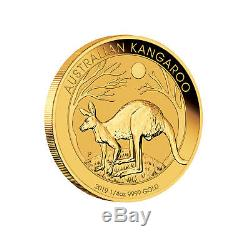 2019 $25 1/4oz Gold Australian Kangaroo. 9999 BU