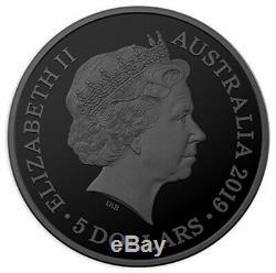 2019 $5 Tasmanian Tiger 1oz Echoes of Australian Fauna Gold Silver Black Proof