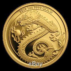 2019 Australia 1 oz Gold Dragon Proof (withBox & COA) SKU#196961
