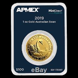 2019 Australia 1 oz Gold Swan (MintDirect Premier Single) SKU#175007