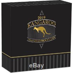 2019 Australian Kangaroo 1/4oz Gold Proof Coin