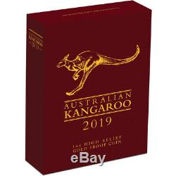 2019 Australian Kangaroo 1oz Gold Proof High Relief Coin