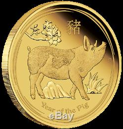 2019 Australian Lunar Year of the Pig 1/10 oz Gold Proof $15 Coin Australia