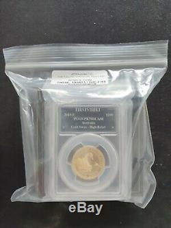 2019 Australian Swan 1oz Gold Proof High Relief Coin PR-70 PCGS (FS, Swan Label)