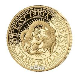 2019 Niue 1 Oz Japan Japanese Trade Dollar Gold High Relief Proof Coin Box Coa