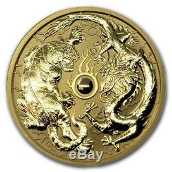 2019 Queen Elizabeth II Australia Tiger/Dragon 24 Karat 1 ozt Gold Round C95762
