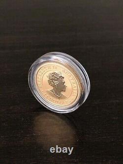 2020 1/10 oz Gold Australian Kookaburra Coin. 9999 in Capsule