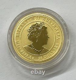 2020 1/4 oz. 9999 Gold Australia Lunar Series Mouse Rat $25