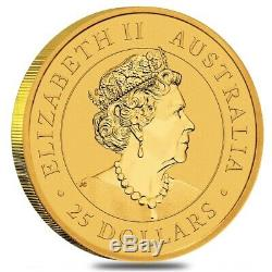 2020 1/4 oz Australian Gold Kangaroo Perth Mint Coin. 9999 Fine BU In Cap