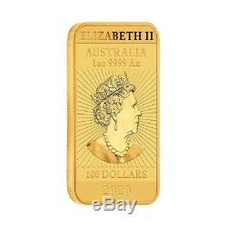 2020 1 oz Gold Australian Dragon Coin Bar $100 BU