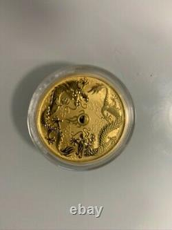 2020 1oz Australian Gold Double Dragon Coin (BU)