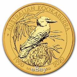 2020 Australia 1/10 oz Gold Kookaburra BU SKU#205054