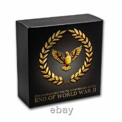 2020 Australia 1/4 oz Gold End of WWII 75th Anniversary Proof SKU#210358