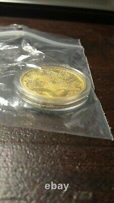 2020 Australia 1 oz Gold Double Dragon BU In plastic bag and Capsule Case