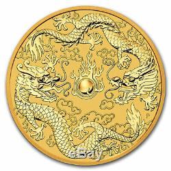 2020 Australia 1 oz Gold Double Dragon BU SKU#204140