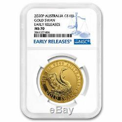 2020 Australia 1 oz Gold Swan MS-70 NGC (ER) SKU#207730