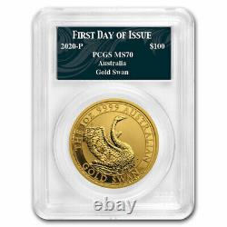 2020 Australia 1 oz Gold Swan MS-70 PCGS (FD, Swan Label) SKU#207732