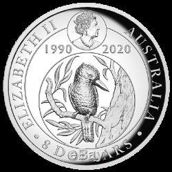 2020 Australian Kookaburra 5oz Silver Proof High Relief Gilded Coin