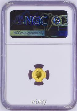 2020 James Bond 007 $2 0.5g. 9999 Gold COIN NGC MS70 Brown Label