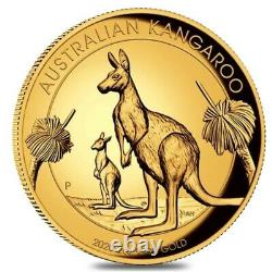 2020 P 2 oz Gold Australian Kangaroo High Relief Perth Mint (withBox & COA)