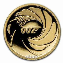 2020 Tuvalu 1/4 oz Gold 007 James Bond Proof SKU#215311