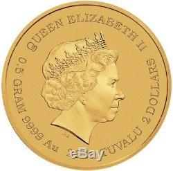 2020 Tuvalu JAMES BOND 007.5 Gram. 9999 24KT Gold Coin BU NEW In Assay/COA
