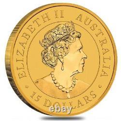 2021 1/10 oz Australian Gold Kangaroo Perth Mint Coin. 9999 Fine BU In Cap