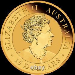 2021 1/10 oz Australian Kookaburra Gold Coin In Factory Capsule Limited Mint