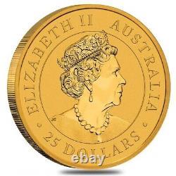2021 1/4 oz Australian Gold Kangaroo Perth Mint Coin. 9999 Fine BU In Cap