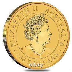 2021 1 oz Australian Gold Kangaroo Perth Mint Coin. 9999 Fine BU In Cap