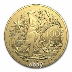 2021 Australia $100 1 oz Gold Coat of Arms BU SKU#228606
