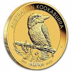 2021 Australia 1/10 oz Gold Kookaburra BU SKU#225248