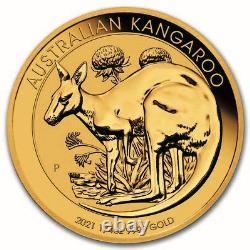 2021 Australia 1/4 oz Gold Kangaroo BU SKU#217667
