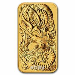 2021 Australia 1 oz Gold Dragon Rectangular Coin BU SKU#228245