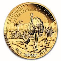 2021 Australia 1 oz Gold Emu BU SKU#233084