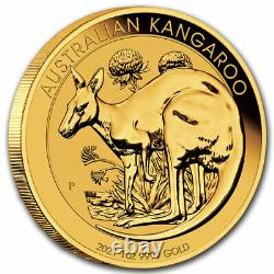 2021 Australia 1 oz Gold Kangaroo BU Perth Mint. 9999 Fine Gold